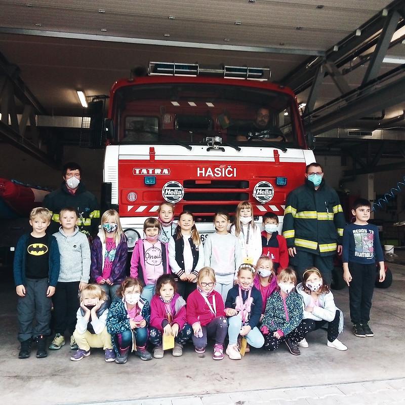 2.A v hasičárně